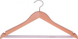 Houten kledinghangers
